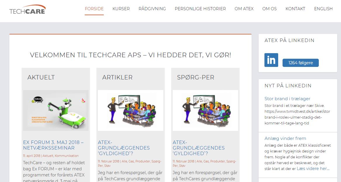 Velkommen til TechCare - VI HEDDER DET, VI GØR!